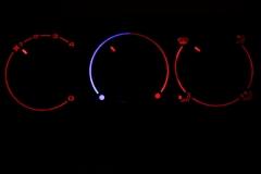 Passat B4 piros fűtés sötétben