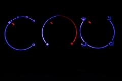 Passat B4 kék fűtés sötétben