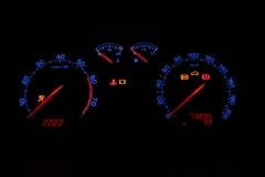 Octavia I facelift kék számlap, piros inverz LCD, piros mutató